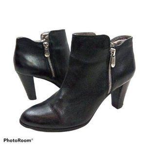 Adrienne Vittadini Ankle Boots Black Leather_N1275